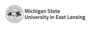 Logo Michigam state university in east lansing
